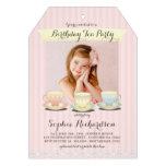 Süß Chic-Geburtstags-Tee-Party Einladung