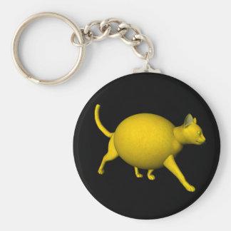 Süß-Saure Zitronen-Katze Schlüsselanhänger