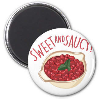 Süß und frech runder magnet 5,7 cm
