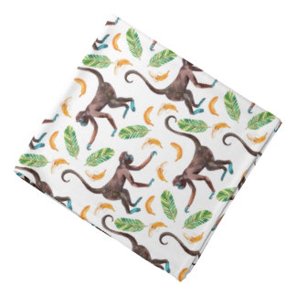 Süße Affen, die Bananen jonglieren Kopftuch