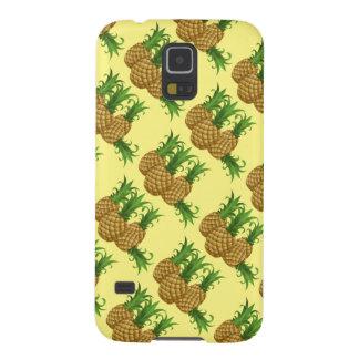 süße Ananas. gelber Hintergrund Samsung S5 Cover