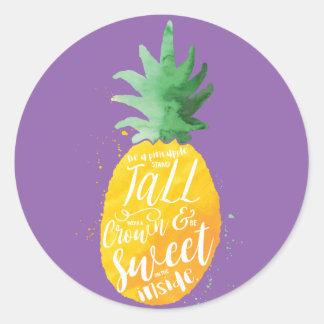 Süße Ananas Runder Aufkleber