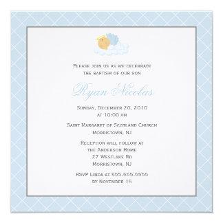 Süße Baby-Taufe Quadratische 13,3 Cm Einladungskarte