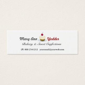 Süße Bäckerei-hübsche Mini Visitenkarte
