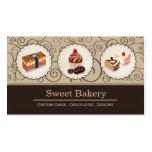 Süße Bäckerei-Speicher-Gewohnheit backt Schokolade Visitenkarte