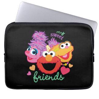 Süße beste Freund-Charaktere Laptop Sleeve