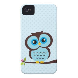 Süße blaue Eule iPhone 4 Case-Mate Hülle