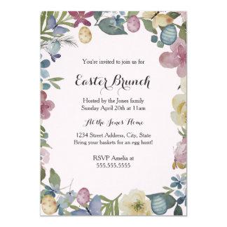 Süße Blumengarten-Ostern-Brunch-Einladung Karte