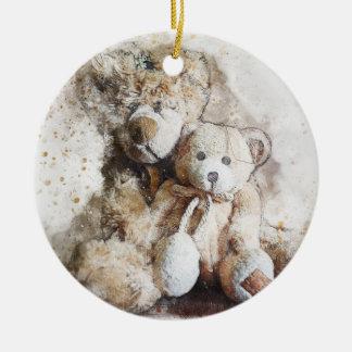 Süße Brownteddy-Bärn-Keramik-Verzierung Keramik Ornament