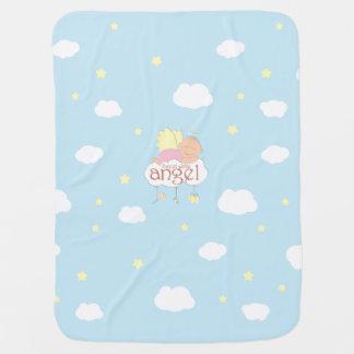 Süße Decke des blauen Babys des Engelchens