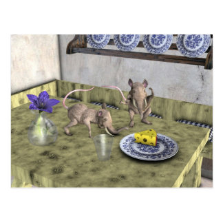 Süße Elefant-Mäuse Postkarte