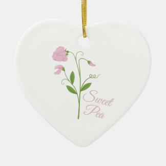 Süße Erbse Keramik Ornament