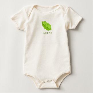 Süße Erbsen-Baby-Bio Bodysuit Baby Strampler