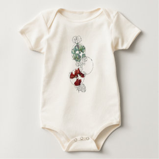 süße Erbsen Baby Strampler