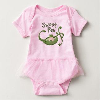 Süße Erbsen-Ballettröckchen-Bodysuit Baby Strampler