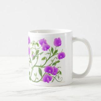 Süße Erbsen-Blumen-Rebe-Tasse Tasse