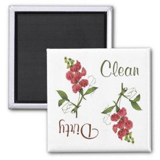 Süße Erbsen-Blumen-Spülmaschinen-Magnet Quadratischer Magnet