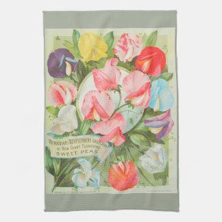 Süße Erbsen: Katalogillustration des Samens 1906 Handtuch