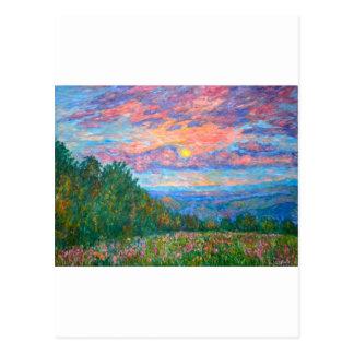 Süße Erbsen-Morgen auf dem blauen Ridge Postkarte