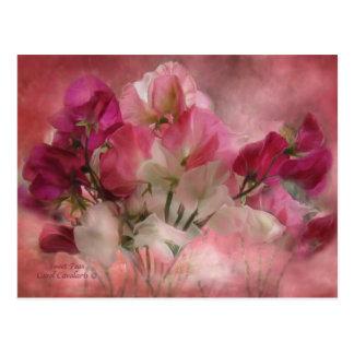 Süße Erbsen-Postkarte Postkarte