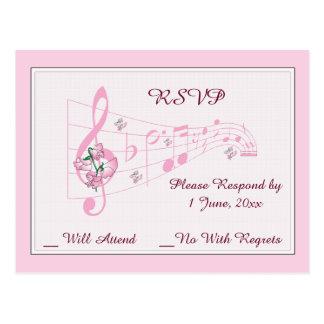Süße Erbsen und Musik-Hochzeit UAWG Karte