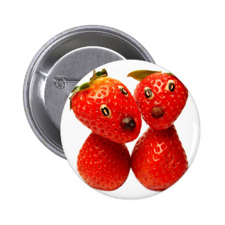 Süsse Erdbeer-Freunde Anstecknadelbuttons