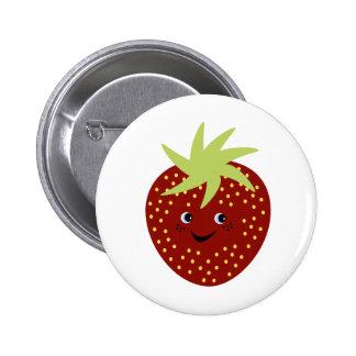 Süße Erdbeere Anstecknadelbuttons