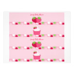 Süße Erdbeerwasser-Flaschen-Aufkleber Personalisierte Flyer
