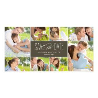 Süße Erinnerungens-Save the Date Foto-Karten Photokarten