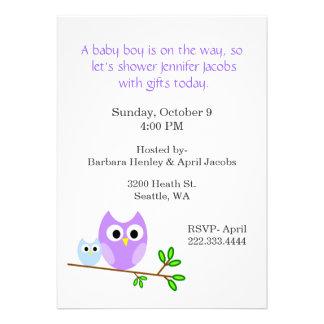 Süße Eulen-Babyparty-Einladung