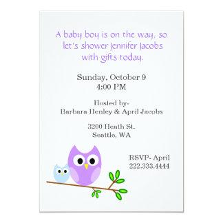 Süße Eulen-Babyparty-Einladung 12,7 X 17,8 Cm Einladungskarte