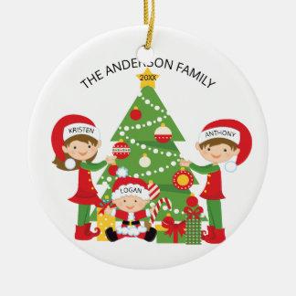 Süße Familie der personalisierten Verzierung des Keramik Ornament