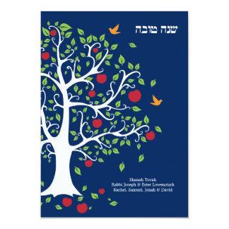 Süße flache Karte Apples Rosh Hashanah
