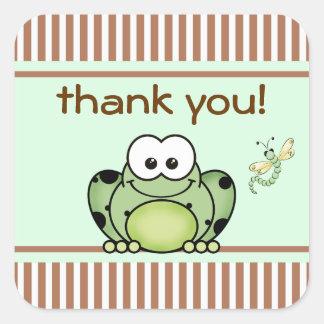 Süsse-Frosch danken Ihnen Aufkleber
