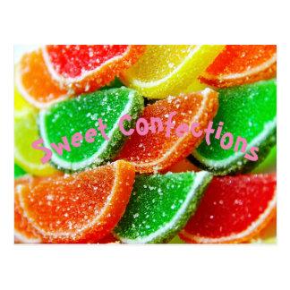 Süße Gelee-Marmeladen-Süßigkeit Postkarte