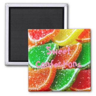 Süße Gelee-Marmeladen-Süßigkeit Quadratischer Magnet