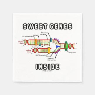 Süße Gene innerhalb des DNA-Reproduktions-Spaßes Serviette