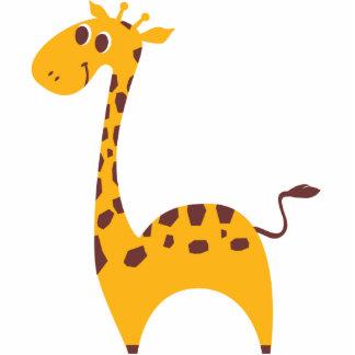 Süße Giraffe Freistehende Fotoskulptur