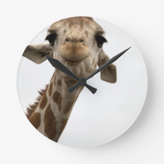 Süße Giraffe Runde Wanduhr