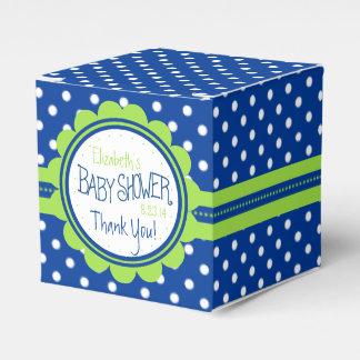 Süße grüne und blaue Tupfen-Babyparty Geschenkschachtel