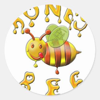 süße Honigbiene Runder Aufkleber