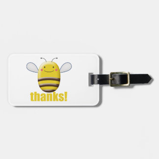 Süße Hummel-Biene sagt Dank Gepäckanhänger