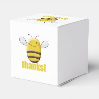 Süße Hummel-Biene sagt Dank Geschenkschachtel