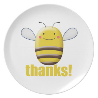 Süße Hummel-Biene sagt Dank Teller