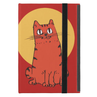 süße Katze, die lustigen Cartoon sitzt iPad Mini Etui