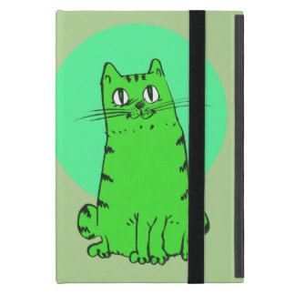 süße Katze, die lustigen Cartoon sitzt iPad Mini Etuis
