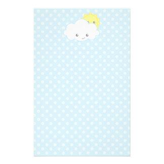 Süße Kawaii Wolke und Sun Briefpapier