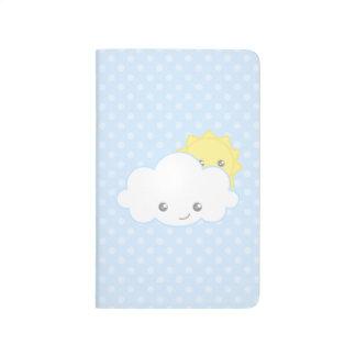 Süße Kawaii Wolke und Sun Taschennotizbuch