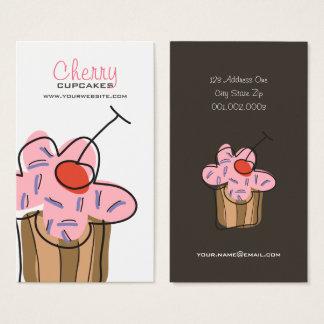 Süße Kirschkuchen-Bäckerei-Nachtisch-Visitenkarte Visitenkarte