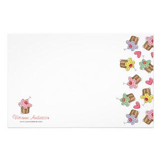 Süße Kirschkuchen-Süßigkeiten-Bäckerei niedlich Briefpapier
